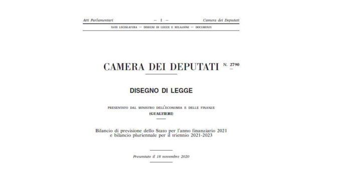 Il DDL bilancio 2021 prevedere ancora il credito d'imposta per beni strumentali